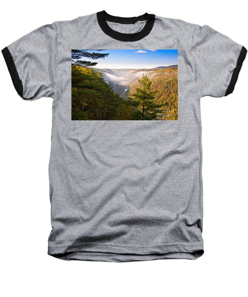 Fog Over The Canyon Baseball T-Shirt