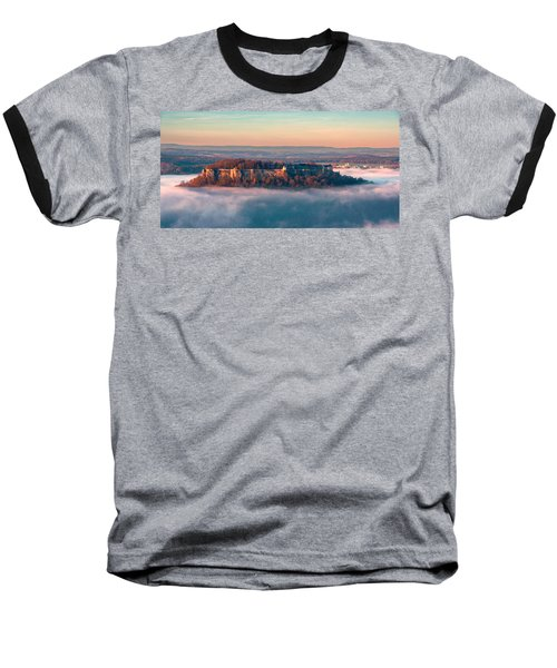 Fog Surrounding The Fortress Koenigstein Baseball T-Shirt