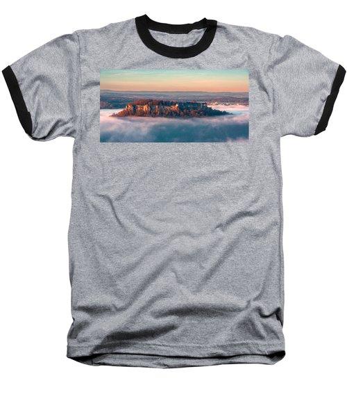 Fog Surrounding The Fortress Koenigstein Baseball T-Shirt