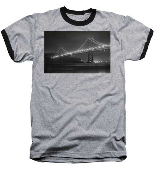 Foggy Bay Bridge Baseball T-Shirt