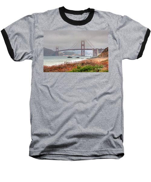 Baseball T-Shirt featuring the photograph Foggy Bridge by Kate Brown