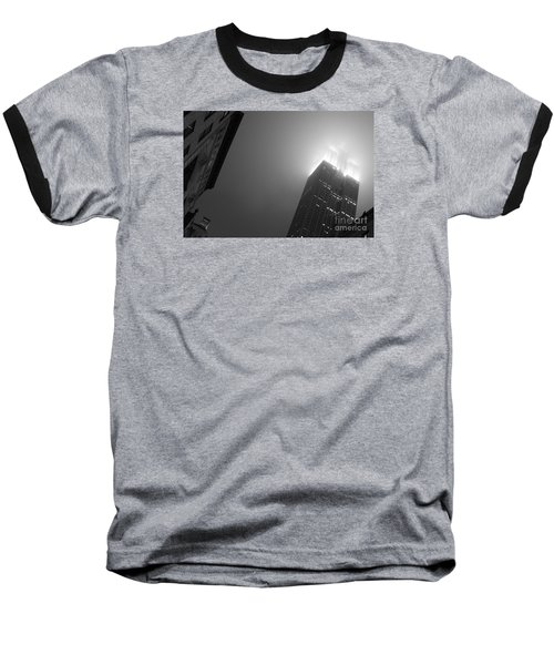 Baseball T-Shirt featuring the photograph Foggy Empire by Steven Macanka