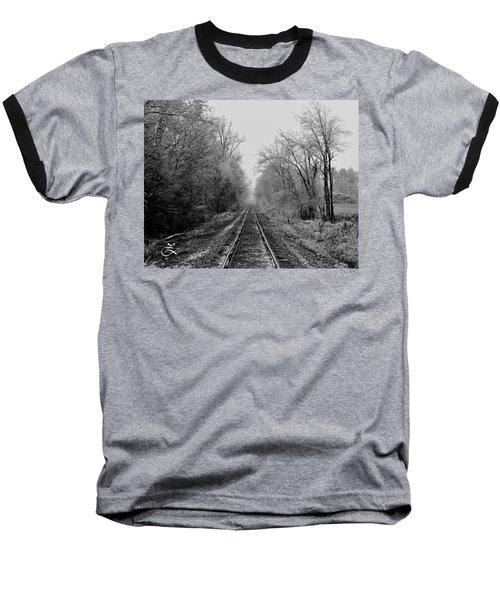 Foggy Ending In Black And White Baseball T-Shirt