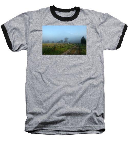 Foggy Field Baseball T-Shirt