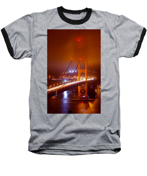Foggy Golden Gate Baseball T-Shirt