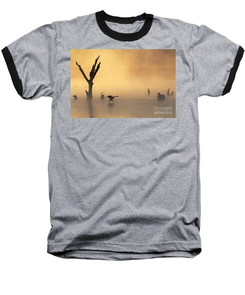 Foggy Landing Baseball T-Shirt