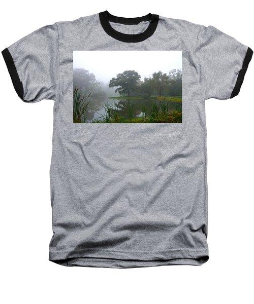 Foggy Morning At The Willows Baseball T-Shirt