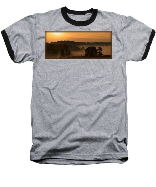 Foggy Morning At Valley Forge Baseball T-Shirt by Michael Porchik
