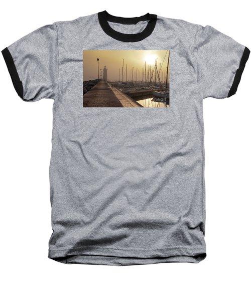 Baseball T-Shirt featuring the photograph Foggy Morning by Simona Ghidini