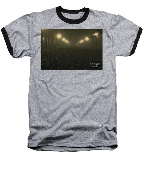 Foggy Night In A Park Baseball T-Shirt