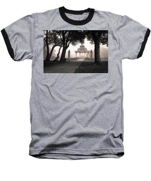 Foggy Tower Grove Baseball T-Shirt by Scott Rackers