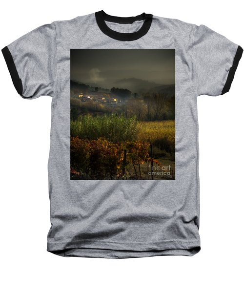 Foggy Tuscan Valley  Baseball T-Shirt