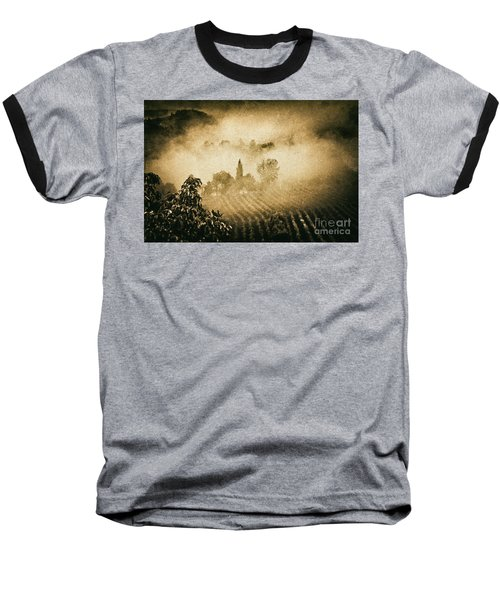 Baseball T-Shirt featuring the photograph Foggy Tuscany by Silvia Ganora