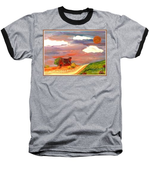 Baseball T-Shirt featuring the painting Folk Art by Bobbee Rickard