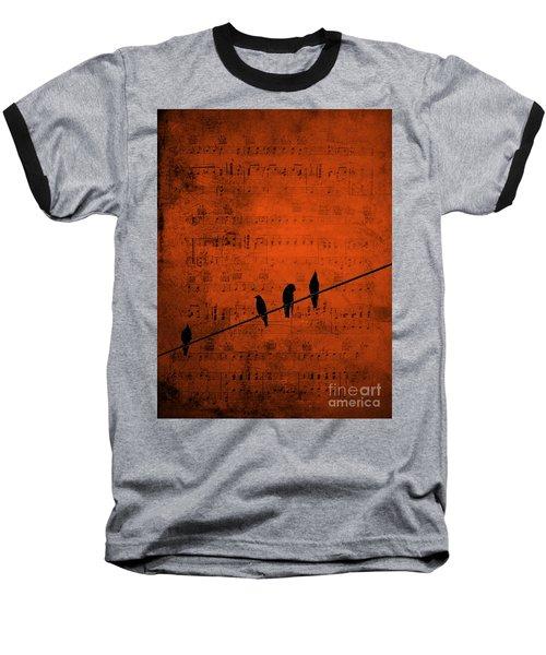 Follow The Music Baseball T-Shirt by Andrea Kollo