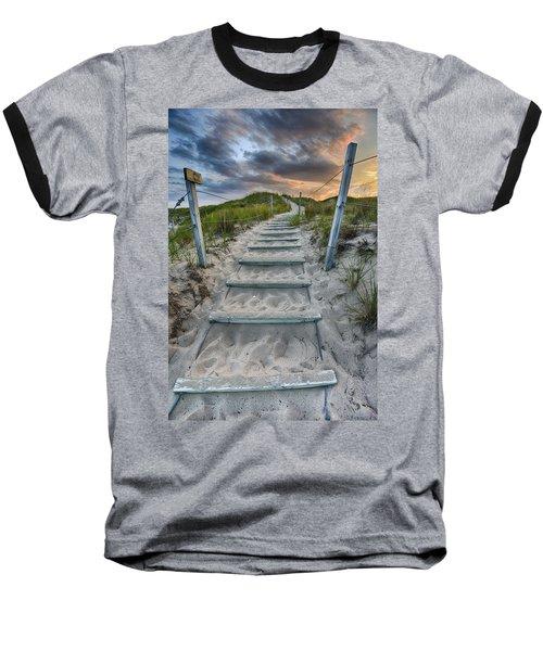 Baseball T-Shirt featuring the photograph Follow The Path by Sebastian Musial