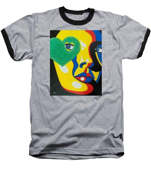 Follow Your Heart Baseball T-Shirt by Susan DeLain
