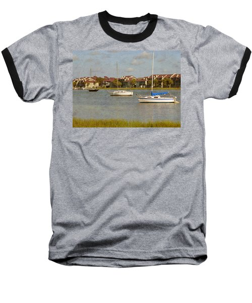 Folly Beach Boats Baseball T-Shirt