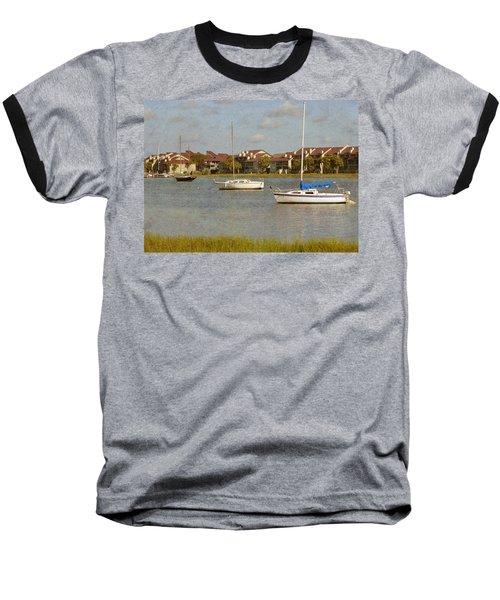 Folly Beach Boats Baseball T-Shirt