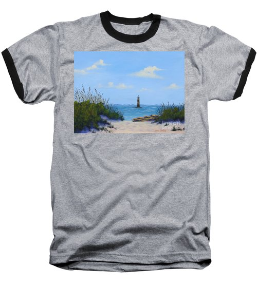 Folly Beach Lighthouse Baseball T-Shirt