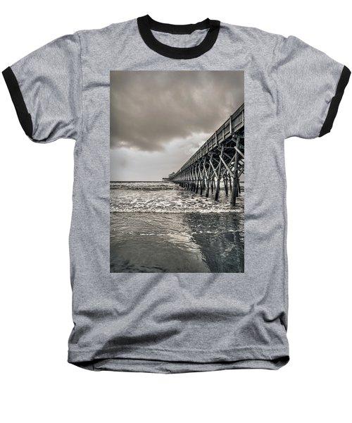 Baseball T-Shirt featuring the photograph Folly Beach Pier by Sennie Pierson