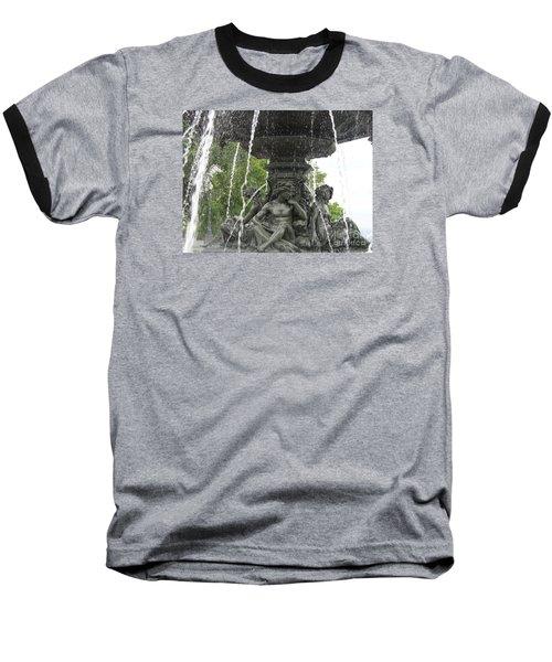 Fontaine De Tourny Baseball T-Shirt by Lingfai Leung