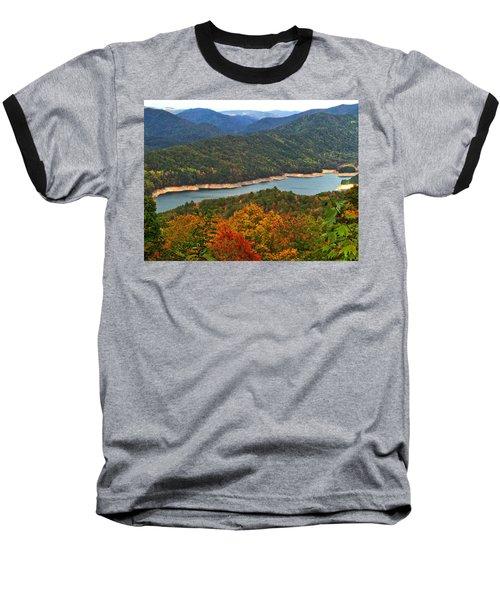 Fontana Lake In Fall Baseball T-Shirt