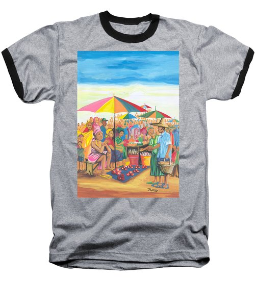 Food Market In Cameroon Baseball T-Shirt