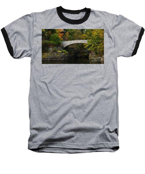 Foot Bridge At Beebe Lake Baseball T-Shirt