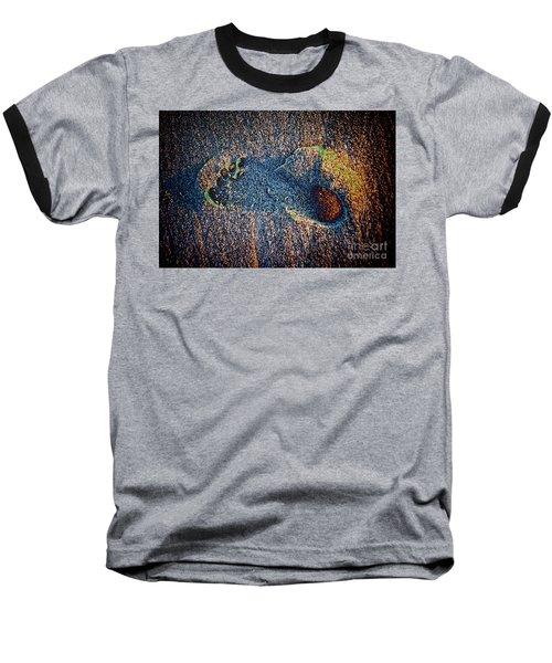 Baseball T-Shirt featuring the photograph Foot In The Sand by Mariola Bitner