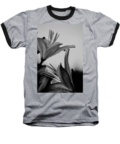 For The Love Of Lillies Bw Baseball T-Shirt