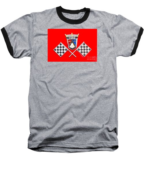 Ford Emblem Baseball T-Shirt by Jerry Fornarotto