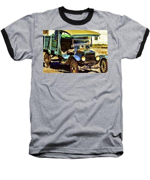 Baseball T-Shirt featuring the painting Ford by Muhie Kanawati