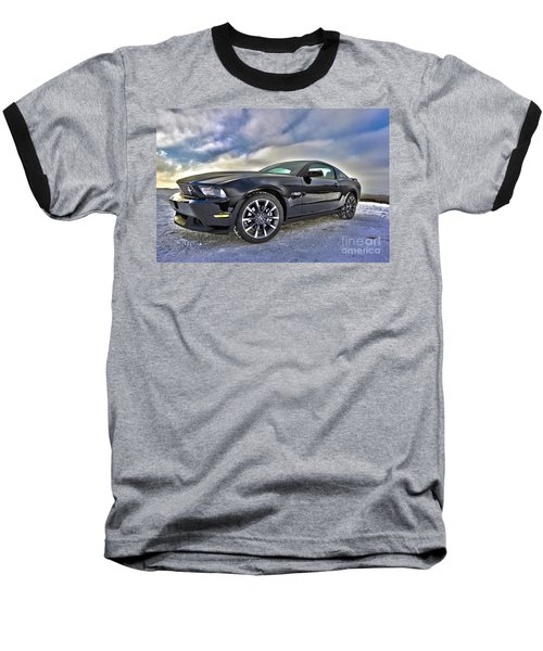 Baseball T-Shirt featuring the photograph ford mustang car HDR by Paul Fearn
