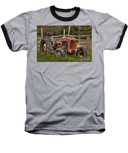 Ford Tractor Baseball T-Shirt by Alana Ranney