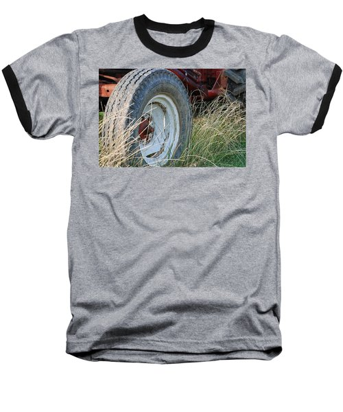 Baseball T-Shirt featuring the photograph Ford Tractor Tire by Jennifer Ancker