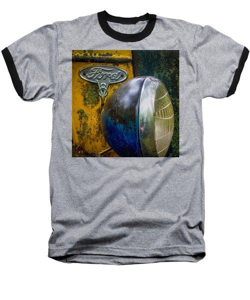 Ford V8 Emblem Baseball T-Shirt by Paul Freidlund