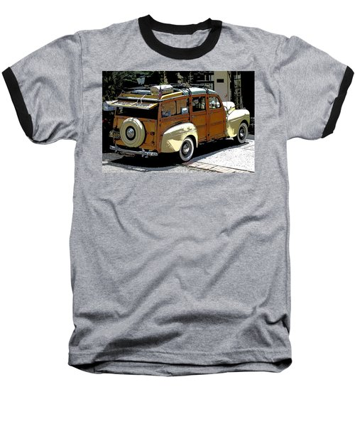 Ford Woodie Baseball T-Shirt by Anne Mott