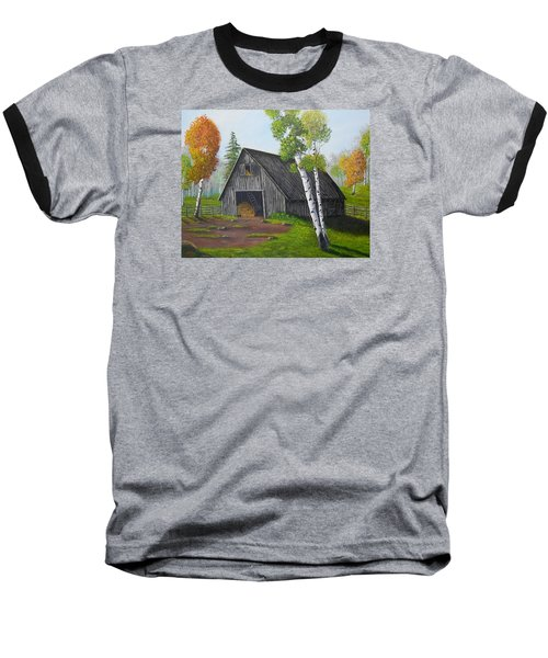 Forest Barn Baseball T-Shirt by Sheri Keith