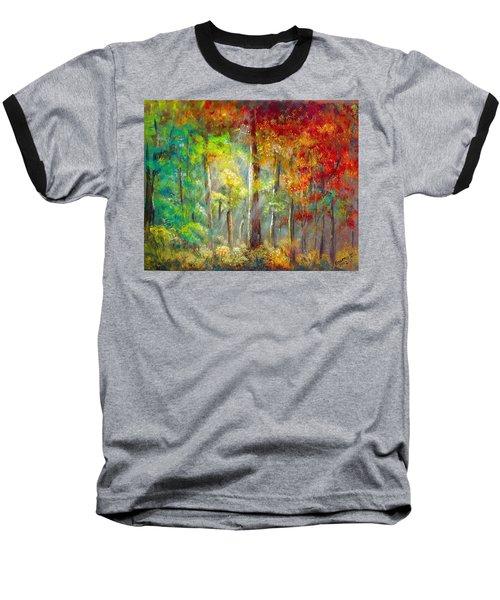 Forest Baseball T-Shirt by Bozena Zajaczkowska
