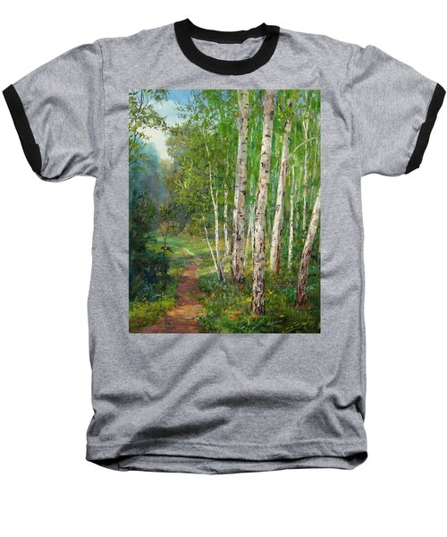 Russian Forest Footpath Baseball T-Shirt