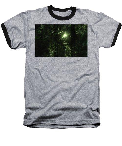 Baseball T-Shirt featuring the digital art Forest Light by GJ Blackman