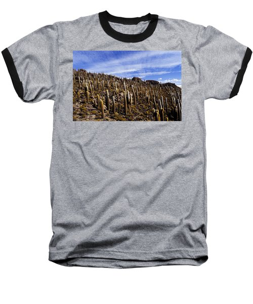 Baseball T-Shirt featuring the photograph Forest Of Cacti by Lana Enderle