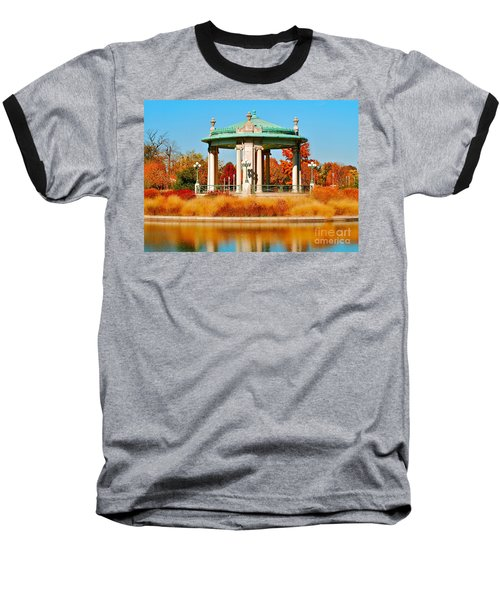 Baseball T-Shirt featuring the photograph Forest Park Gazebo by Peggy Franz