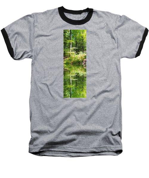 Forest Reflections Baseball T-Shirt by John Stuart Webbstock