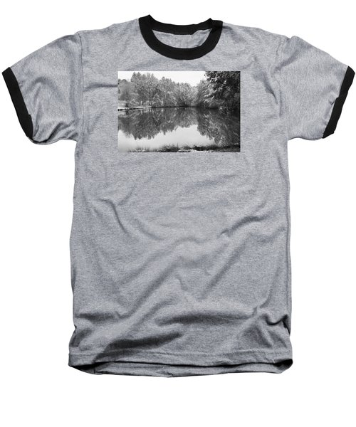 Baseball T-Shirt featuring the photograph Forest Snow by Miguel Winterpacht