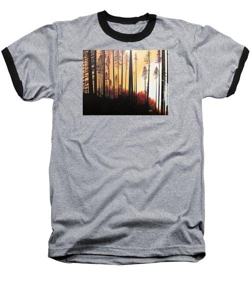 Forest Sunrise Baseball T-Shirt