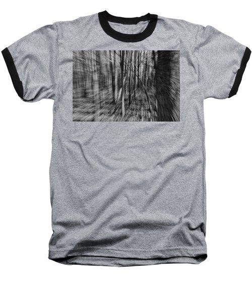 Forest Time B.w Baseball T-Shirt