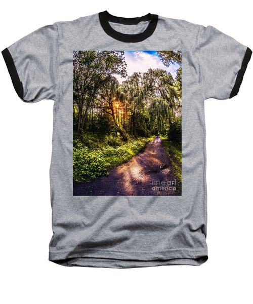 Forest Track Baseball T-Shirt