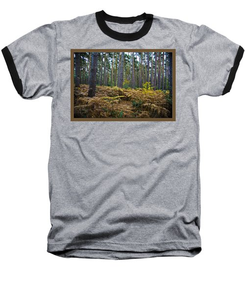 Baseball T-Shirt featuring the photograph Forest Trees by Maj Seda